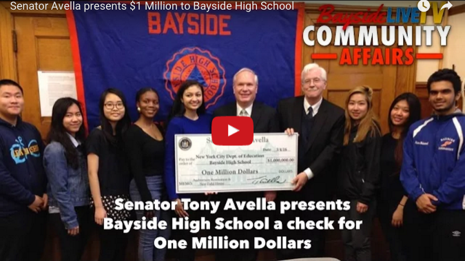 Senator Avella Presents $1 Million to Bayside High School