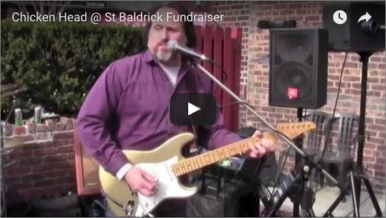 Chicken Head at St. Baldrick Fundraiser