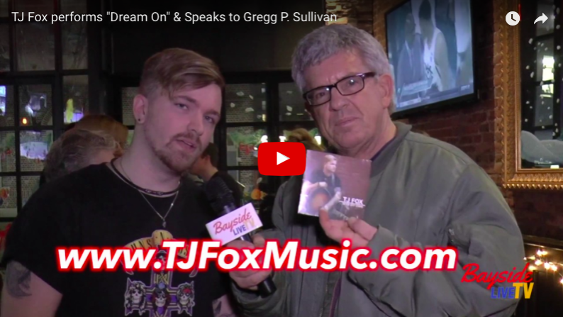 "TJ Fox performs ""Dream On"" & Speaks to Gregg Sullivan"
