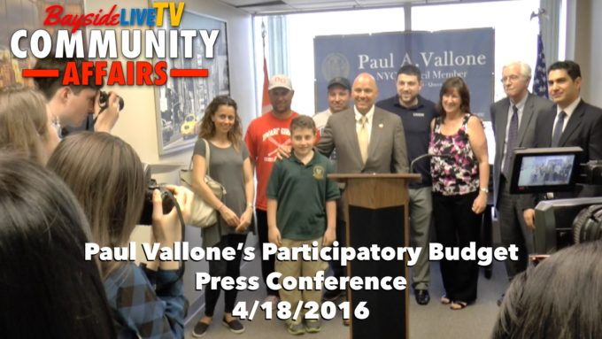 Councilman Paul Vallone's Participatory Budget Awards  4-18-16