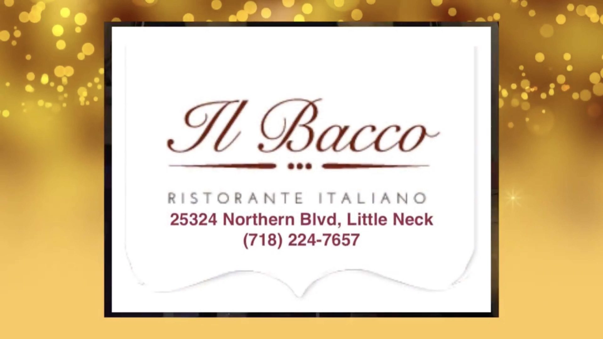 Happy Holidays from Il Bacco's Joe & Tina