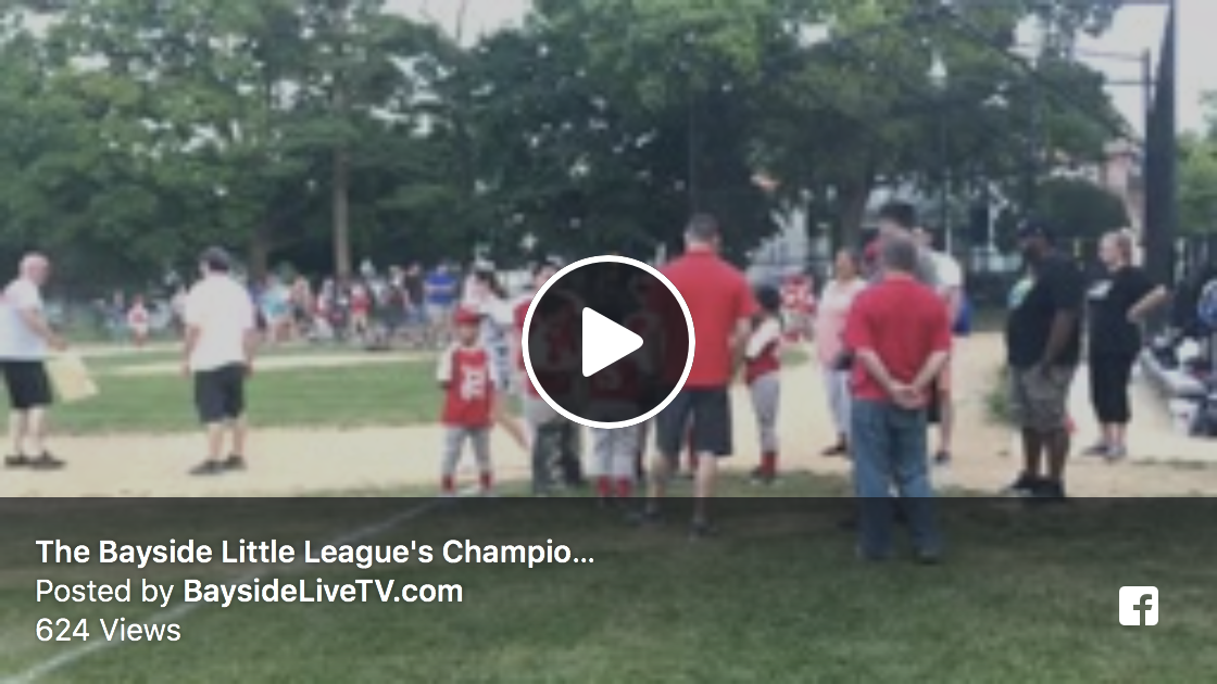 The 2018 Bayside Little League Championship Game